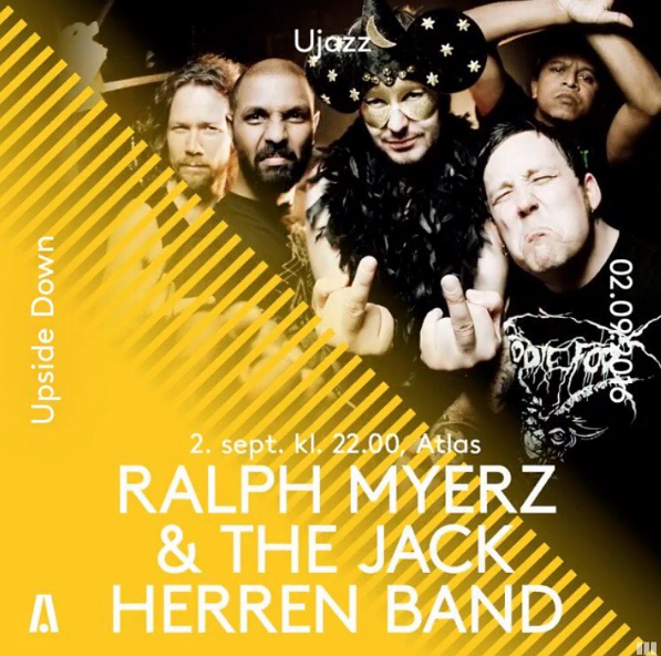Ralph Myerz & The Jack Herren Band Aarhus Festival Show Flyer
